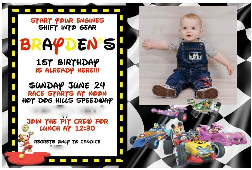 Racing Into 1st Birthday Theme My Son Up To Son Down